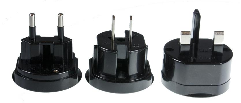 Универсальный сетевой адаптер 220Вт АЗИЯ==>>ЕВРОПА (10А) Partner черный