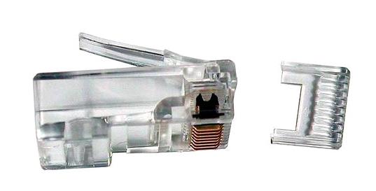 Коннектор 5bites US007A RJ-45 8p8c, зол.напыление, со вставкой