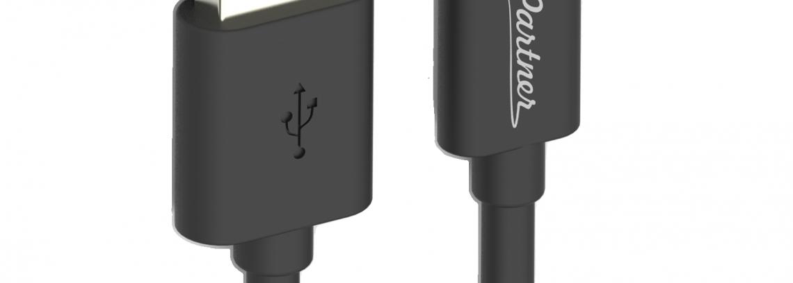 Кабель USB 2.0 - USB Type-C, Partner, 1м