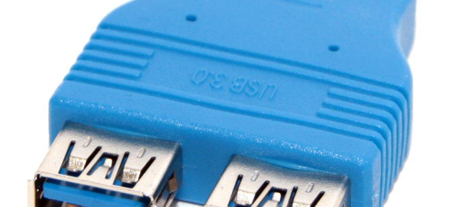 Переходник USB 3.0 2*AF / 20PIN F (для М/В) 5bites UA3004 (USB3004)
