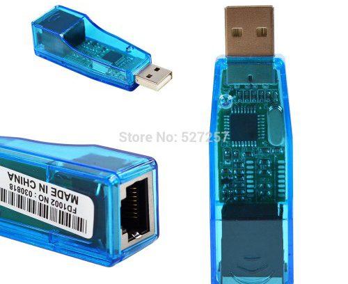 Внешняя Сетевая карта USB 2.0 -> Ethernet RJ-45 (RD9700)(CE533)