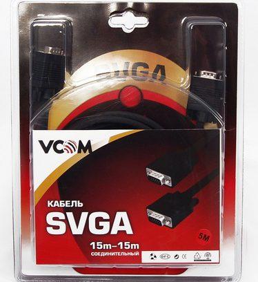 Кабель SVGA VCOM 15m/15m, блистер, 3м.