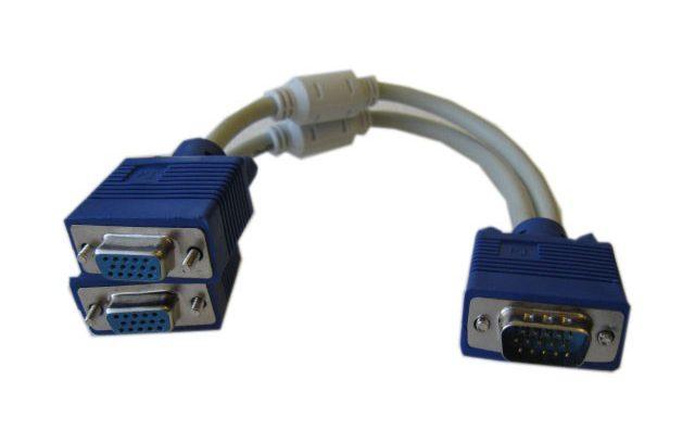 Разветвитель VGA- Splitter на 2 устройства, 25cm - VGA M to VGA F x 2