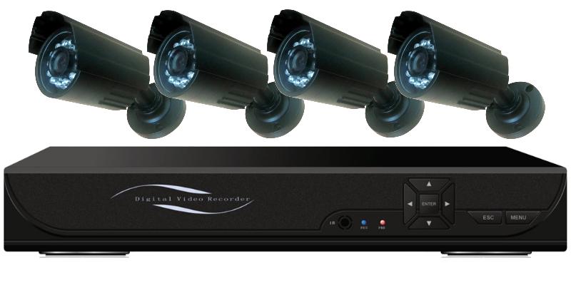Видеорегистратор 4-х канальный для камер наблюдения (VGA,HDMI)