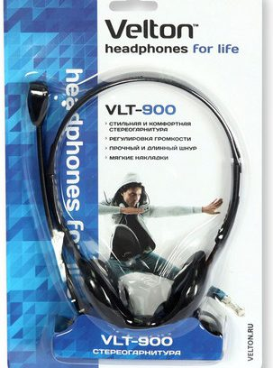 Наушники Velton VLT-900 с микрофоном/рег.громкости