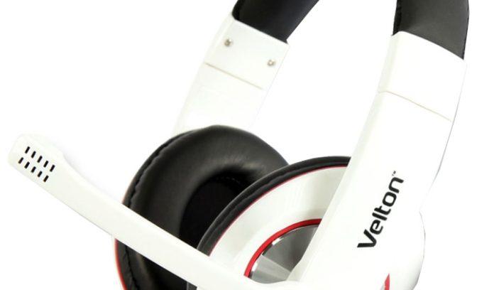 Наушники Velton VLT-H028 с микрофоном/рег.громкости/Белые