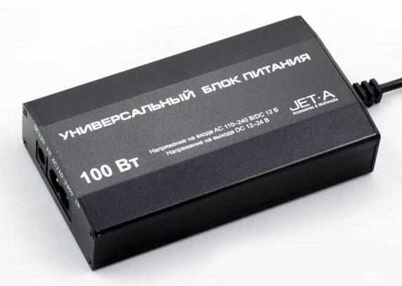 Адаптер питания для ноутбука Jet.A Volt UC-Z6 100Вт универсал вход220V/Авто/USB