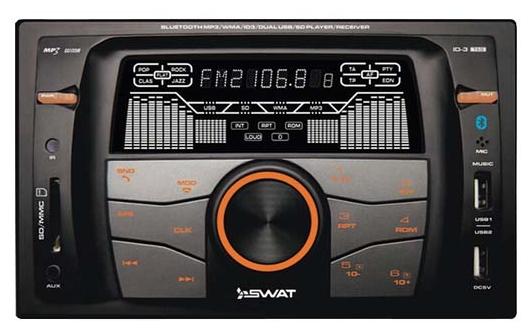 Автомагнитола SWAT WX-216UBA 2DIN/BT/USB/SD/AUX/FM/MP3/4x50Вт/ПультДУ/Зарядка