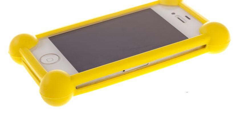 """Универсальный чехол bumper-case 3.5-5.5"""" (желтый)"""